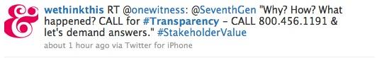 tweets transparency